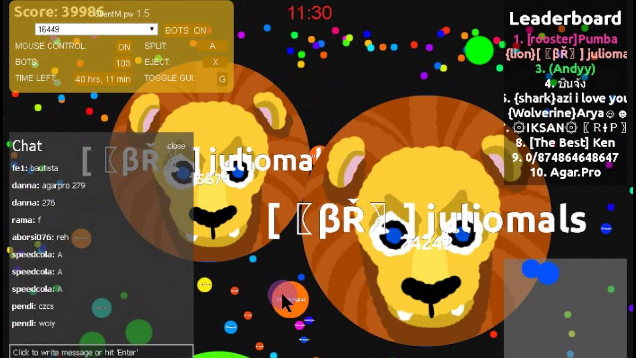 agario how to get free bots