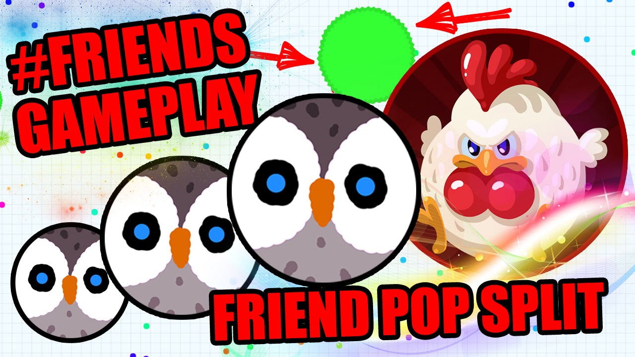 how to play agar io with friends