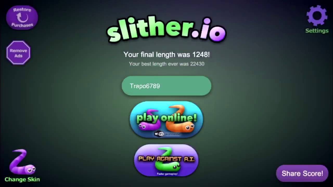 Slither Io Free Online Play Just B Cause