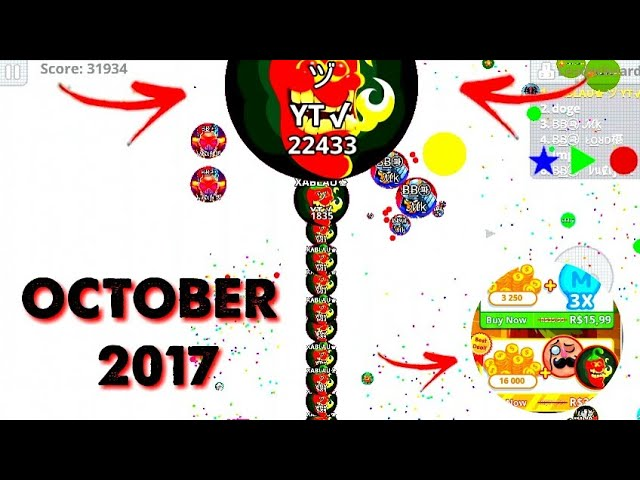 Agario Pro Solo VS Hacker Macro Feed Self Feeding Best